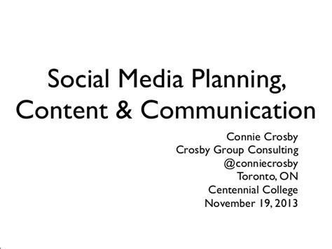 social media marketing courses toronto social media planning content and communication