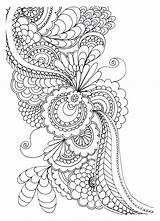 Coloring Adult Drawing Flowers Pages Zen Stress Anti Adults sketch template