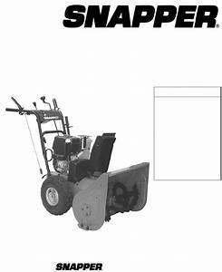 Snapper Snow Blower I5225 User Guide