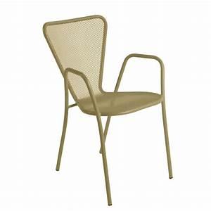 Fauteuil Jardin Design : fauteuil de jardin design en m tal sunset 4 pieds tables chaises et tabourets ~ Preciouscoupons.com Idées de Décoration
