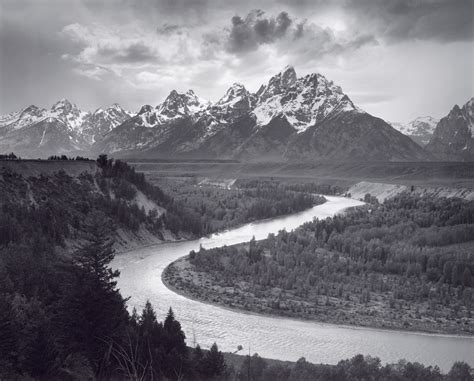 Ansel Adams The Tetons And The Snake River Art Blart
