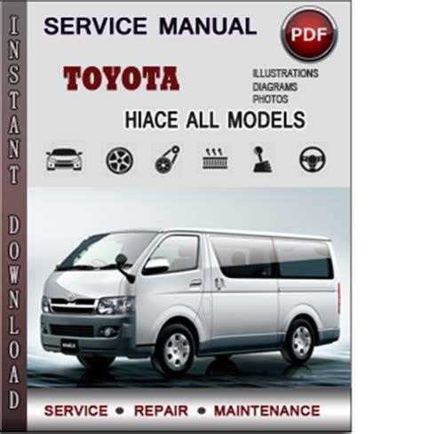 toyota hiace service repair manual  info service