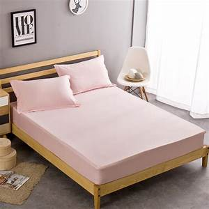 pink100 cotton fitted sheet bed cover pillowcase twin With bed covers for twin beds