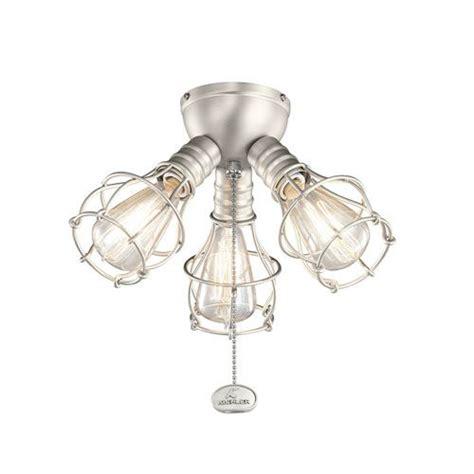 d ceiling fan light kits kichler brushed nickel industrial 3 light kit brushed