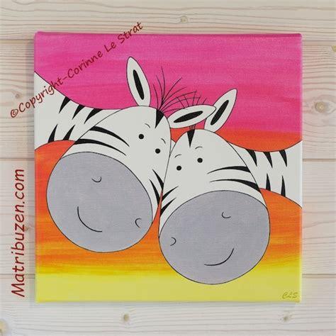 chambre amoureux tableau enfant chambre bébé savane jungle zebres amoureux