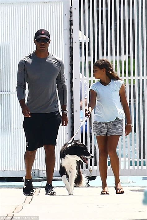 Tiger Woods and His Daughter