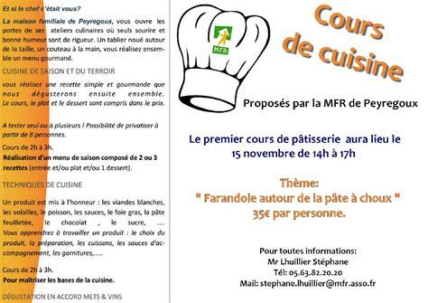 cours de cuisine à peyregoux tarn 81440