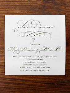 Wedding rehearsal invitations ideas 10 easy and unique for Most formal wedding invitations