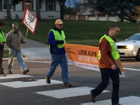 pedestrian crosswalk demonstrations show   vision