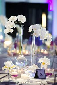 modern purple blue white wedding at contemporary With orchid decorations for weddings