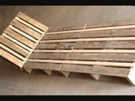 chaise palette fabriquer une chaise longue design en palette repurposed
