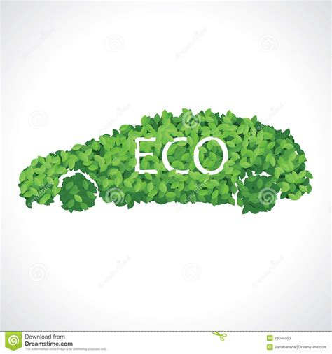 ls made from leaves eco car made of green leaves stock photos image 28046553