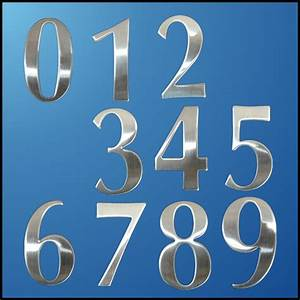 0 9 modern house numbers stainless steel number digits With house letters