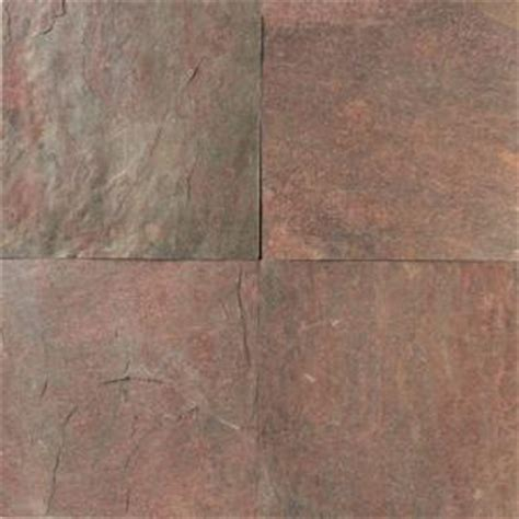 home depot slate tile daltile collection copper 16 in x 16 in