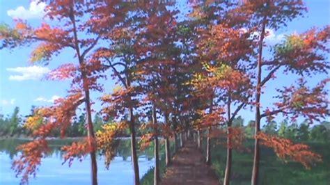 peinture sur toile debutant peindre paysage d automne rapidement classe le 231 on de peinture a l acrylique