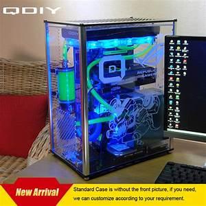 Plexiglas Pc Gehäuse : qdiy pc a009 atx transparent computer case pc case water ~ Watch28wear.com Haus und Dekorationen