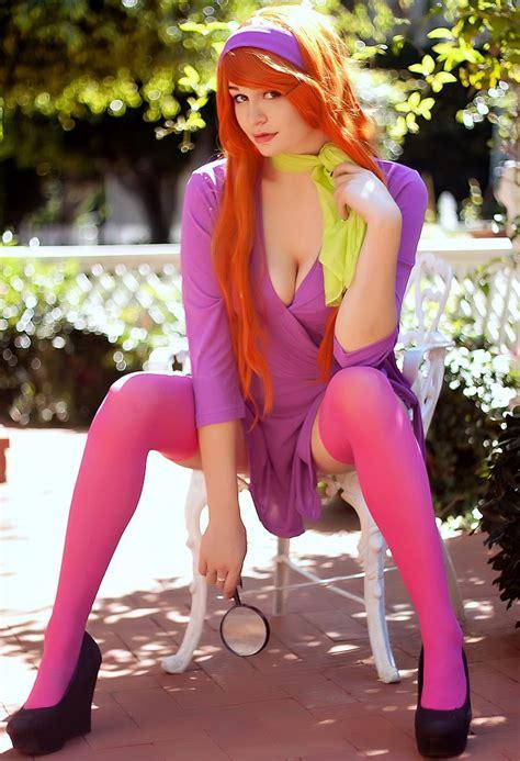 xbooru breasts cosplay daphne blake dress photo scooby doo shoes stockings 595469