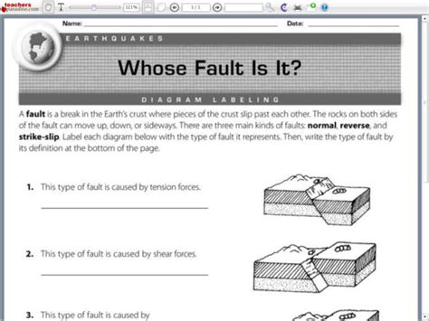 the gallery for gt earthquake diagram worksheet