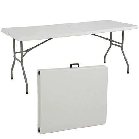 standard folding table size fresh folding table 6 39 portable plastic indoor outdoor picnic