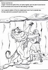 Samson Coloring Bible Pages Sunday Stories Lesson Lion Crafts Preschool Lessons Children Licorice Lord Printables Craft Strong Activities Template Bites sketch template