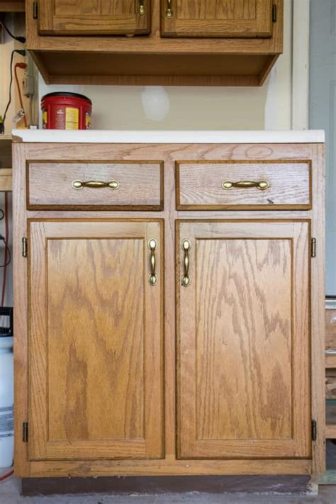 how to paint oak cabinets painted furniture removing wood grain for a smooth finish