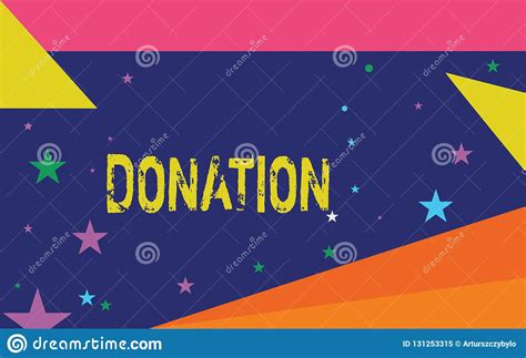 handwriting text writing donation concept meaning
