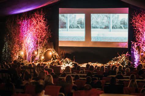 backyard cinemas winter night garden     london