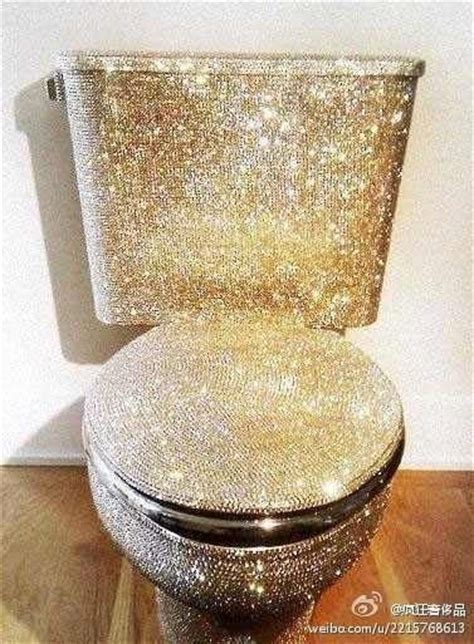 Pink Rhinestone Bathroom Accessories by Bling Toilets And Bling Bling On