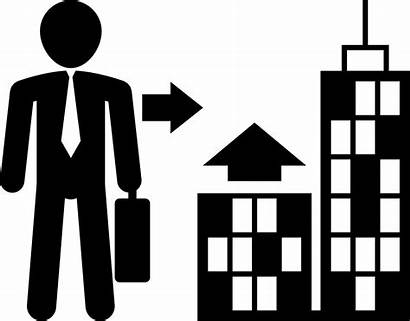 Icon Businessman Going Svg Suitcase Onlinewebfonts