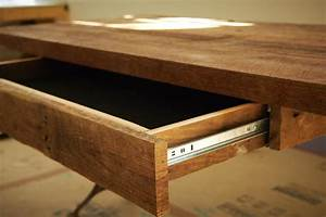 Fabulous Wooden Desk Which Is Completed With Small Drawer
