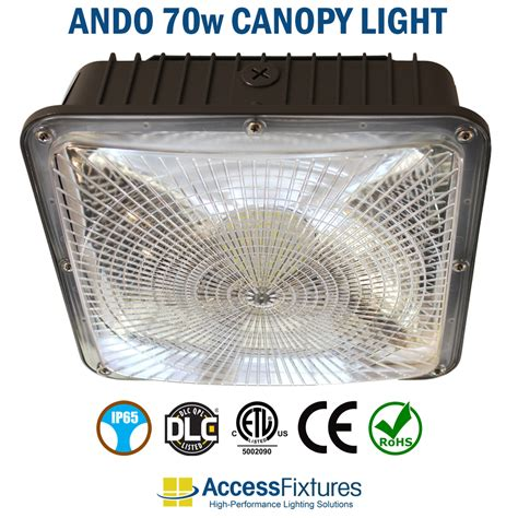 Led Canopy Light Fixtures by 70w Led Canopy Fixtures 70 000 Hrs 8 400 Lumens
