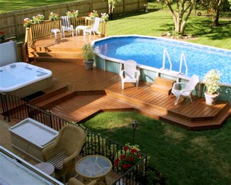 outdoor uniquely awesome decks   ground pools
