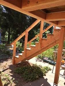Erhöhte Terrasse Bauen : holz au entreppe selber bauen mit oder ohne gel nder garten pinterest porch deck stair ~ Orissabook.com Haus und Dekorationen