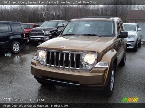 dark brown jeep canyon brown pearl 2012 jeep liberty limited 4x4 dark