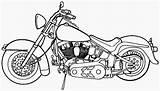 Coloring Motorcycle Printable Filminspector sketch template