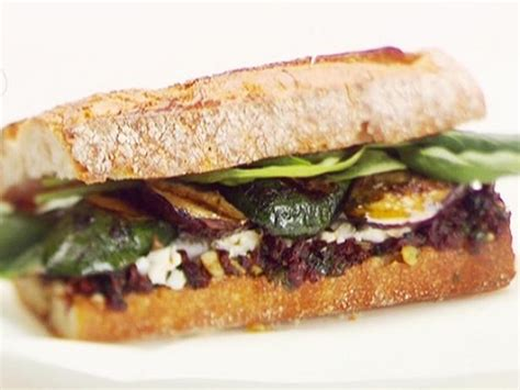 grilled vegetable herb  goat cheese sandwiches recipe