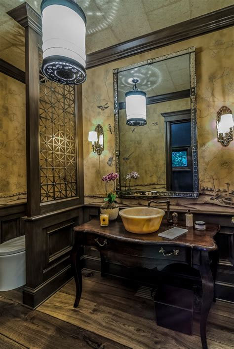elegant powder rooms powder room traditional  dark