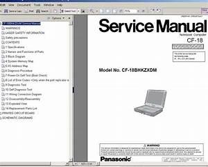 Panasonic Cf M34 Series Repair Service Manual User Guides