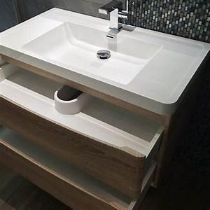 meuble salle de bain 90 cm chene 2 tiroirs plan With meuble de salle de bain 90 cm design