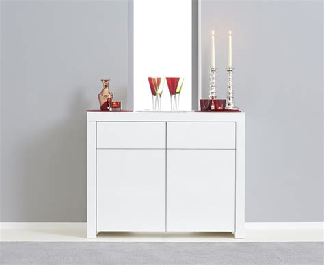 High Gloss Sideboards Uk by Hstead 2 Door 2 Drawer White High Gloss Sideboard The