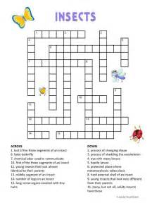 Print out our free insect crossword puzzle for kids and