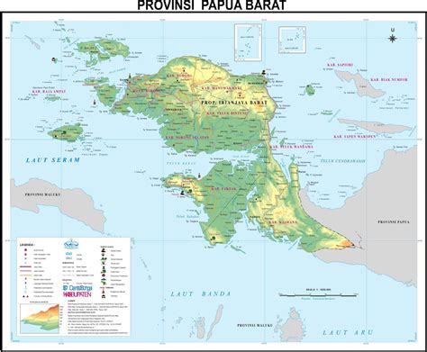 amazing indonesia west papua province map
