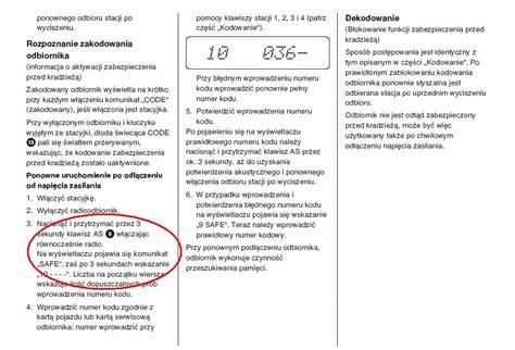odblokowanie radia car 300 opel astra g elektroda pl