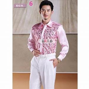 men39s shirt dress shirt shiny sequins men wedding groom With wedding dress shirts for groom