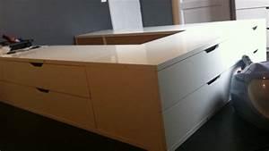 Lit Ikea Rangement : un lit avec des rangements stolmen ~ Teatrodelosmanantiales.com Idées de Décoration