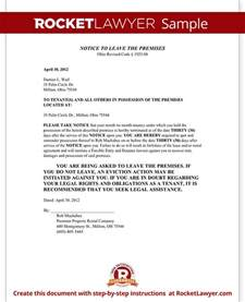Ohio Eviction Notice Template