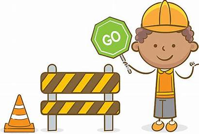 Construction Kid Clipart Worker Clip Sign Permissible