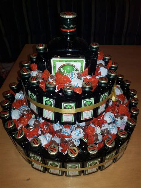 jaegermeister torte geschenkideen alkohol jaegermeister