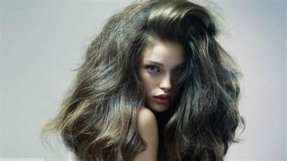 Messy Hair Brunette Portrait Desktop Wallpapers Background