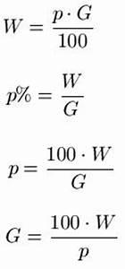 Prozentrechnung dreisatz formel